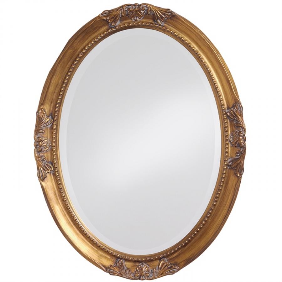 Queen Ann Gold Oval Bathroom Wall Mirror 25 X 33 Inch | On ...