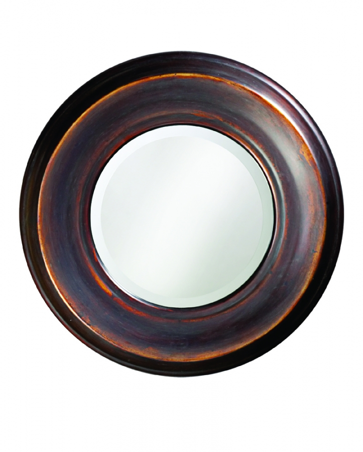 dublin round burnished copper mirror uvhe4082. Black Bedroom Furniture Sets. Home Design Ideas