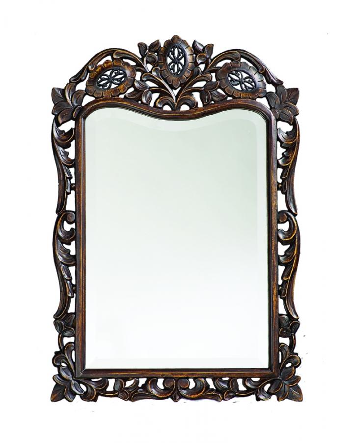 St Augustine Rectangular Antique French Brown Mirror