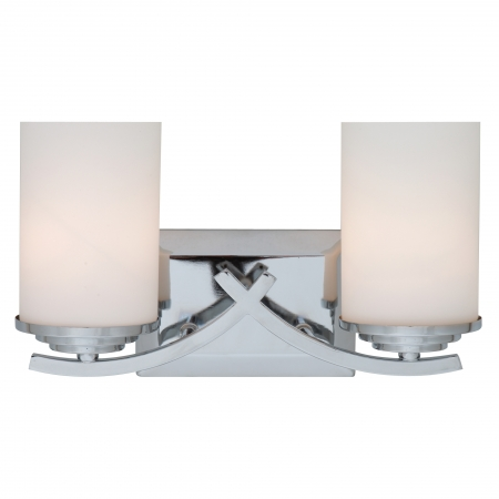 Unique Chrome Vanity Lights : 2 Light Vanity Lighting in Chrome UVYHD4090-2V-CH