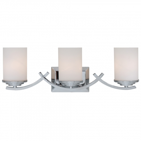 Unique Chrome Vanity Lights : 3 Light Vanity Lighting in Chrome UVYHD4090-3V-CH