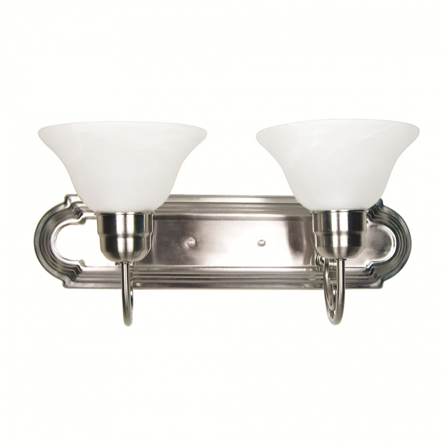 2 light vanity lighting in satin nickel uvyhd4992 2sn