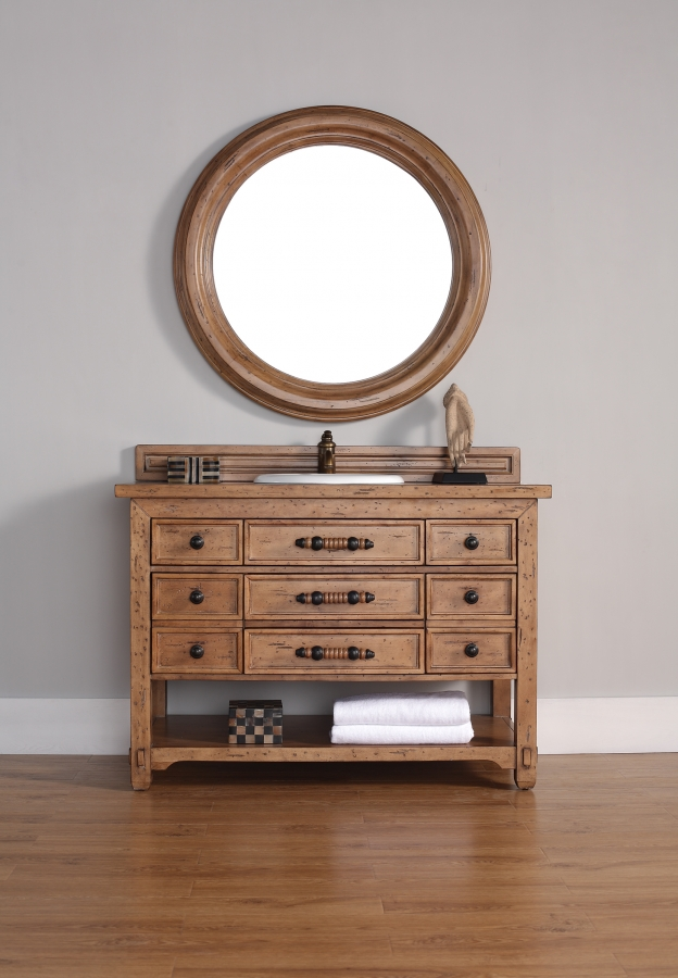 home 48 inch single sink bathroom vanity with seven drawers