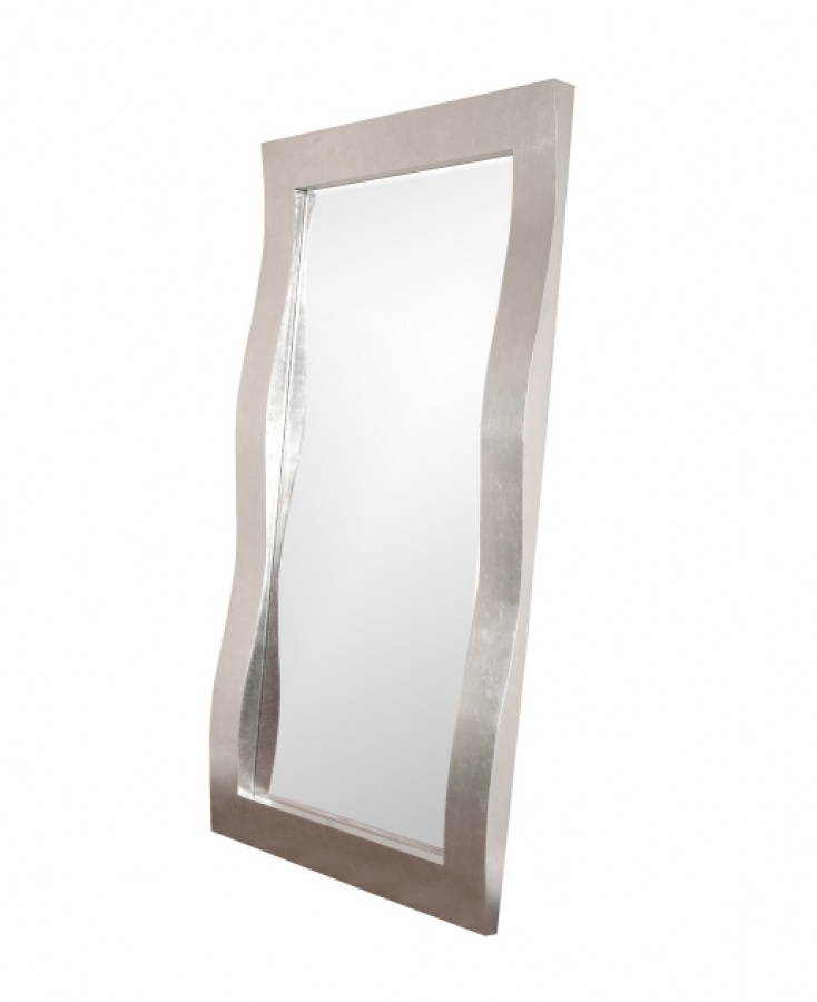 Montrose Bright Silver Leaf With Wavy Shaped Frame Mirror