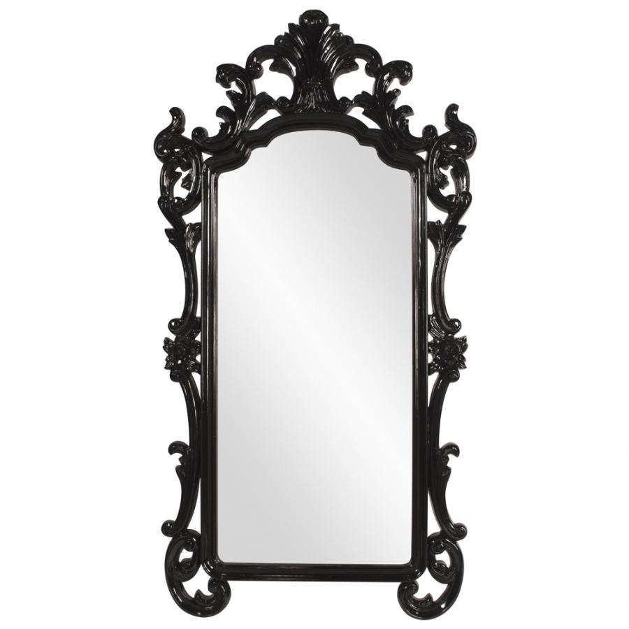 chalmers oversized black baroque rectangular mirror uvhe53038