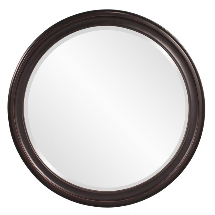 George oil rubbed bronze round mirror uvhe53044 - Oil rubbed bronze bathroom mirrors ...