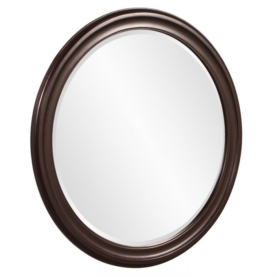 George wenge brown round mirror uvhe53046 for Miroir wenge