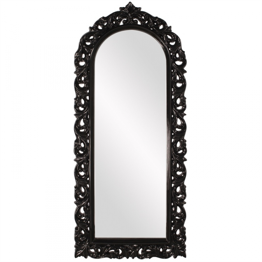 Orleans Glossy Black Arched Mirror UVHE53050