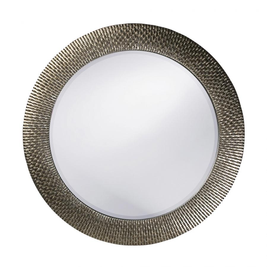 Small bergman silver round mirror uvhe53063 for Small silver mirror