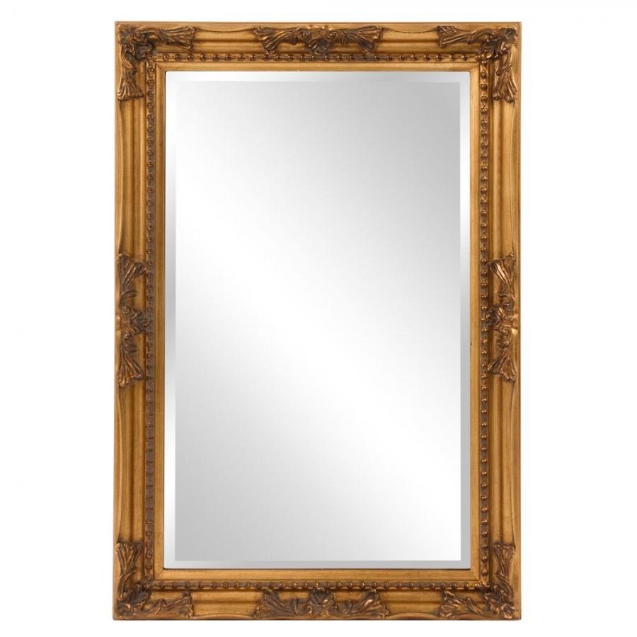 Queen Ann Rectangular Gold Bathroom Wall Mirror 24 X 36 Inch On Sale