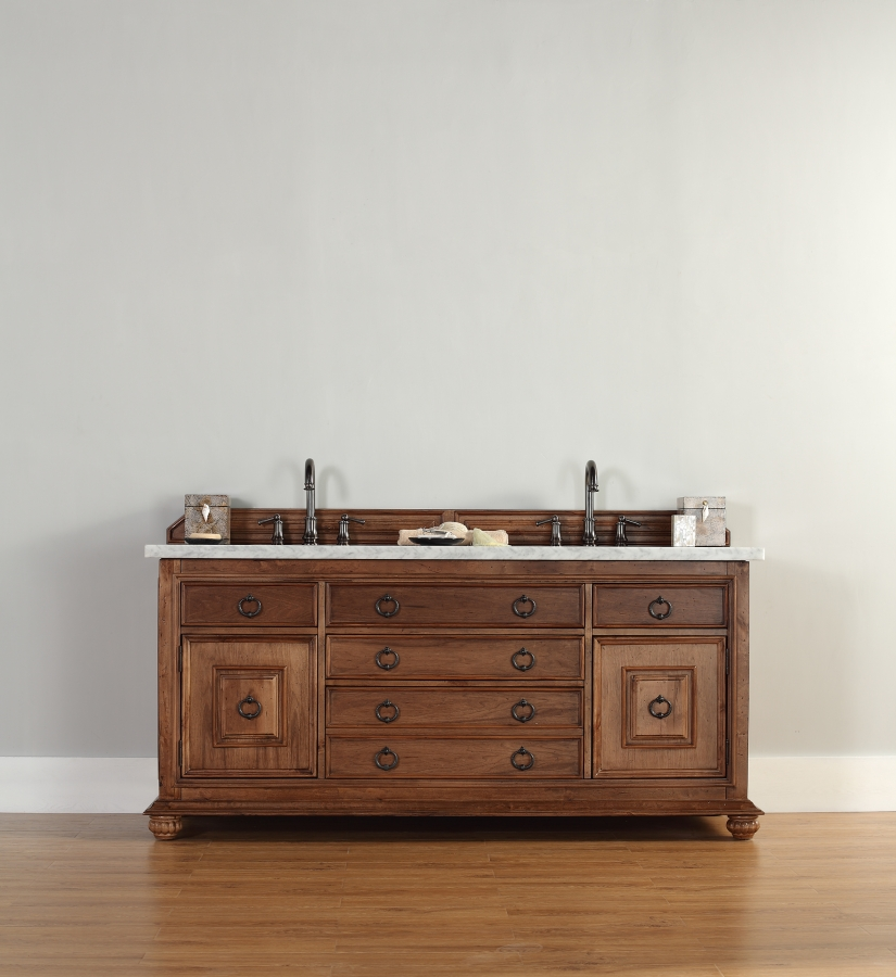 72 Inch Double Sink Bathroom Vanity with Hideaway Tip Out Drawers UVJMF550V72CIN72
