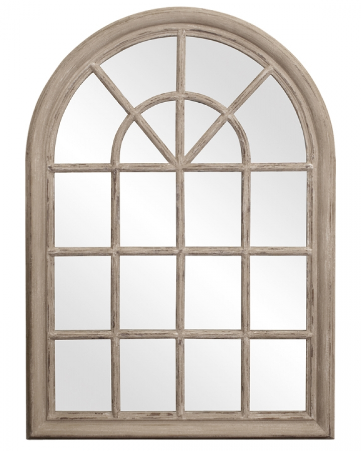 Fenetre arched rustic windowpane style with distressed for Fenetre 24 x 36