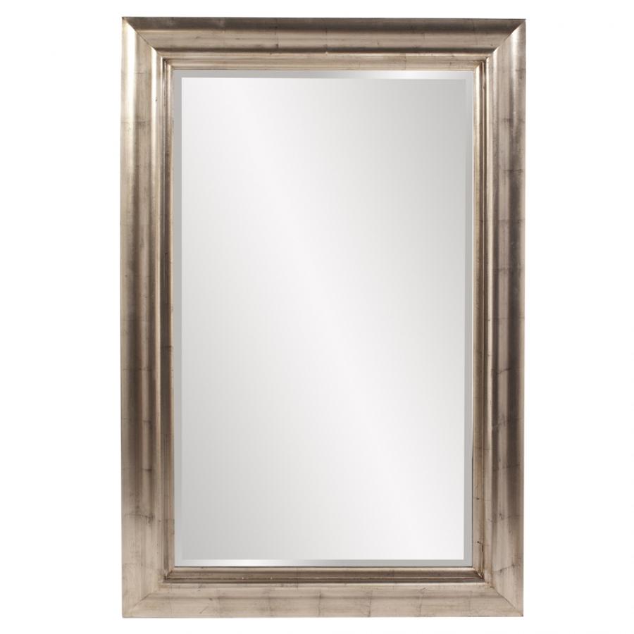 Axelrod silver leaf rectangular mirror uvhe57003 - Silver bathroom mirror rectangular ...