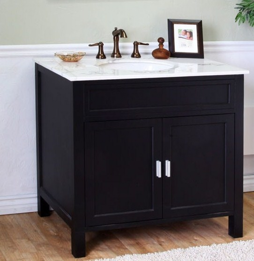 36 inch single sink bathroom vanity in ebony uvbh60016836b36 for Bathroom 36 vanities