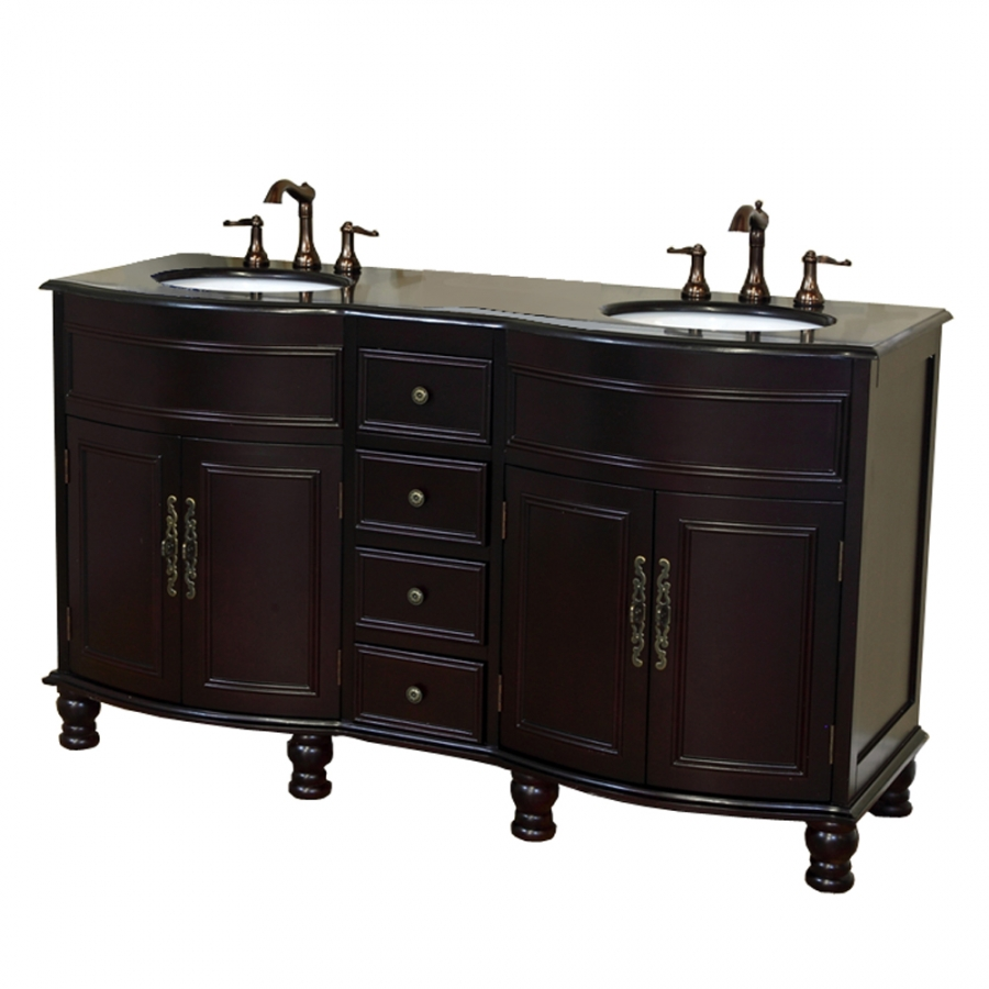 62 inch double bathroom vanity with choice of top - 52 inch bathroom vanity double sink ...