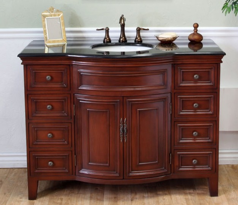 48 Inch Single Sink Bathroom Vanity in Light Walnut UVBH60511548