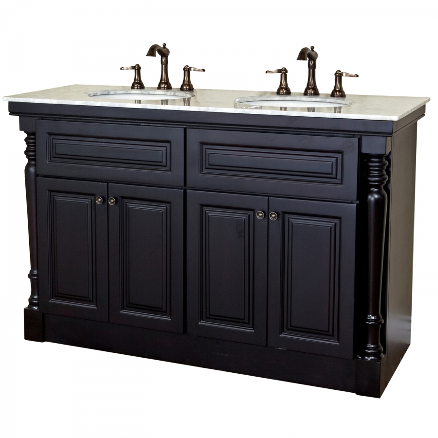 55 inch double bath vanity in mahogany uvbh605522a55. Black Bedroom Furniture Sets. Home Design Ideas