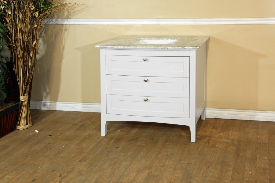 35 inch single sink bathroom vanity with dovetail drawers uvbh7612wh35
