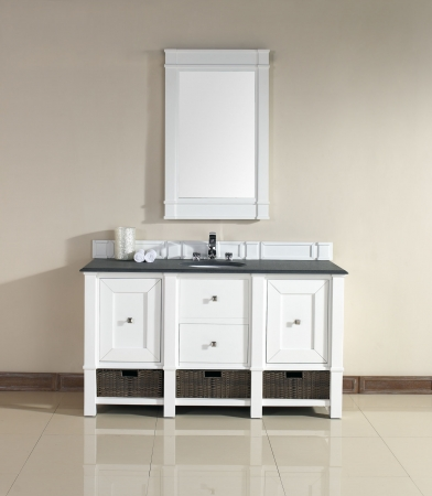60 inch bathroom vanity single sink white 60 inch single sink bathroom vanity in cottage white 25904