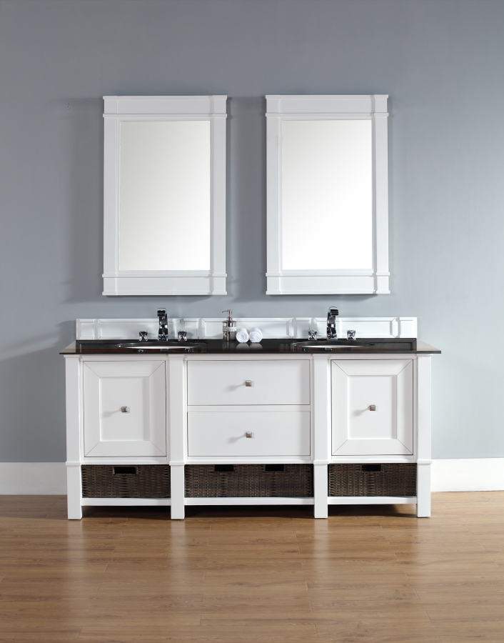 home 72 inch double sink bathroom vanity with multiple top choices