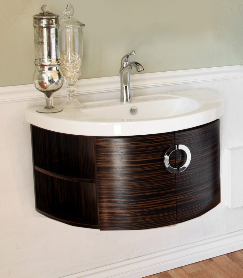 34 Inch Single Bathroom Vanity With A Ebony And Zebra Finish UVBH80433834