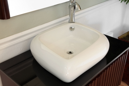 sink with integrated faucet hole