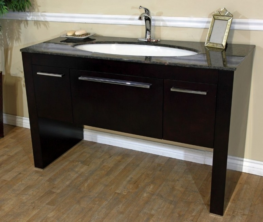 55 inch single sink bath vanity in walnut uvbh804380tb55 for 55 inch double sink bathroom vanity