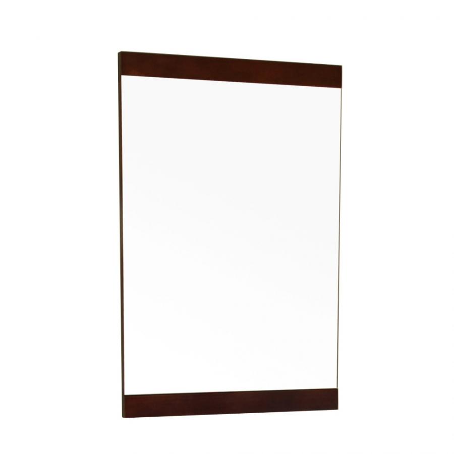 Rectangular solid wood dark walnut frame mirror uvbh804381m