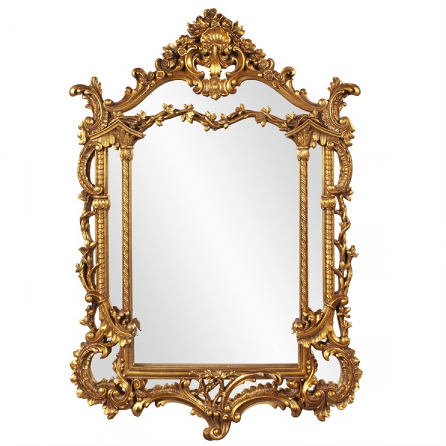 Arlington Gold Baroque Arched Mirror Uvhe84001