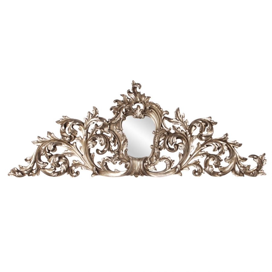 Baroque Silver Wall Art Ornate Mirror Uvhe84009
