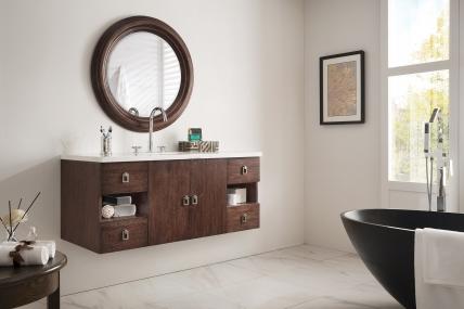 48 Inch Single Sink Bathroom Vanity in Coffee Oak with Top Choice