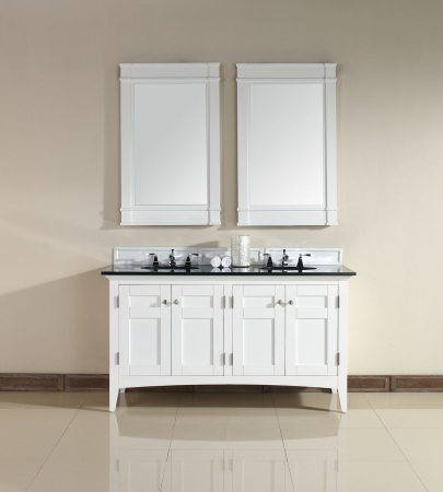 60 Inch Double Sink Bathroom Vanity In White UVJMF900V60DPWHABK60