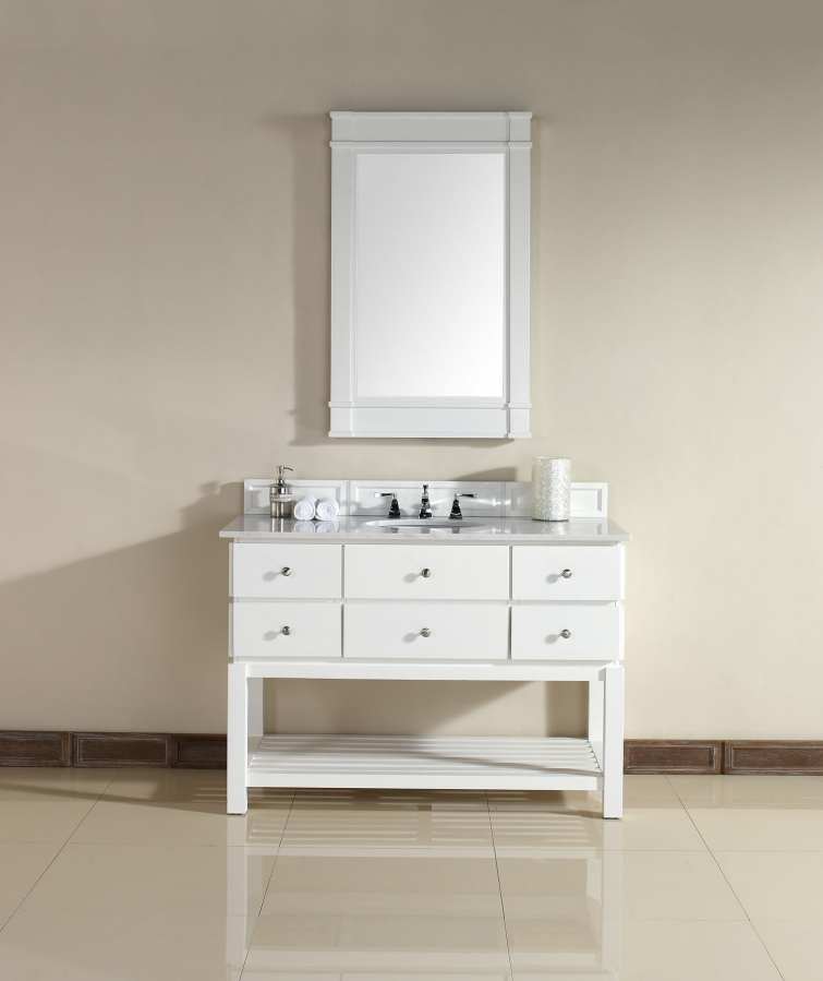48 Farmhouse Sink : Home > 48 Inch Single Sink Bathroom Vanity with Soft Close Hinges
