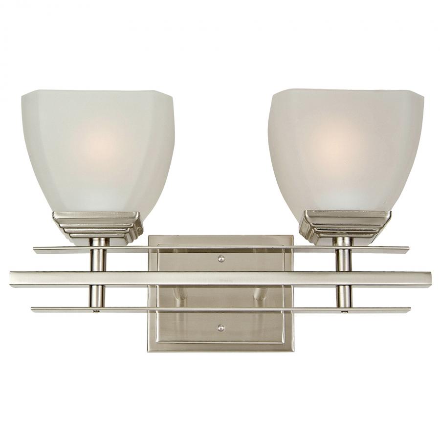 Vanity Lights Unique : 2 Light Vanity Lighting in Satin Nickel UVYHD95592SN