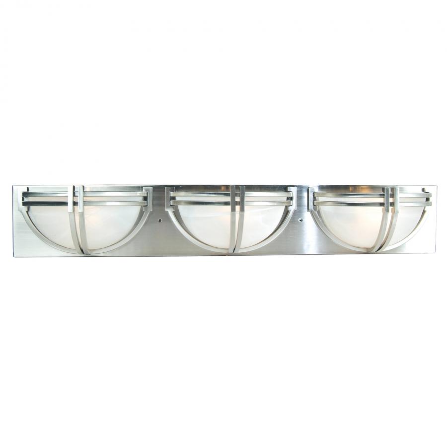 Vanity Lights Unique : 3 Light Vanity Lighting in Satin Nickel UVYHD98393-3SN