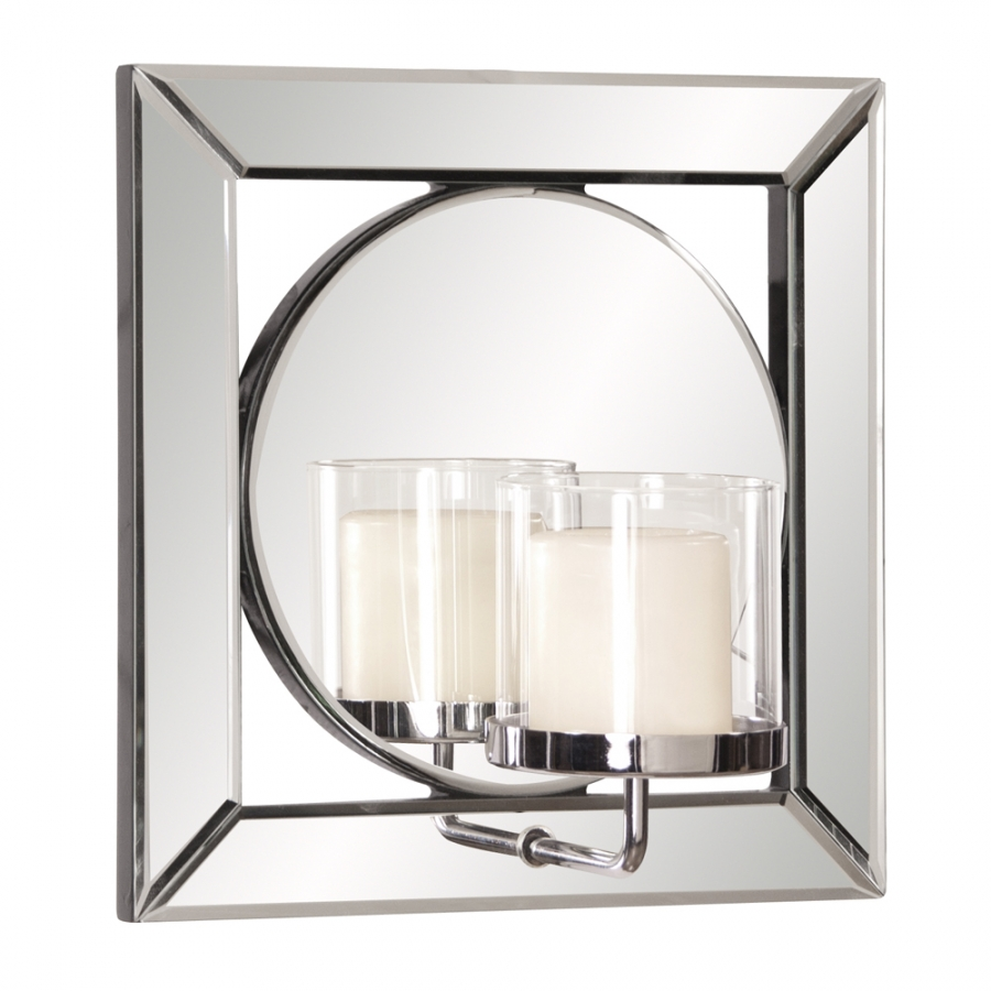 lula square mirror with candle holder uvhe99073. Black Bedroom Furniture Sets. Home Design Ideas