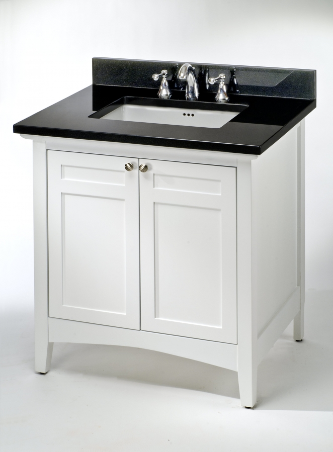 30 inch single sink shaker style bathroom vanity with for Bathroom cabinets 30 inch
