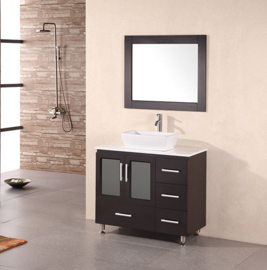36 inch modern single sink bathroom vanity in espresso uvdeb36vs36