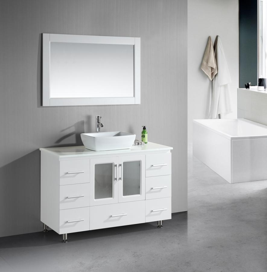 48 inch single sink bathroom vanity with lots of drawers - 48 inch bathroom vanity without top ...