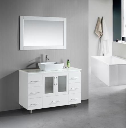 48 Inch Single Sink Bathroom Vanity With Lots Of Drawers UVDEB48VSW48