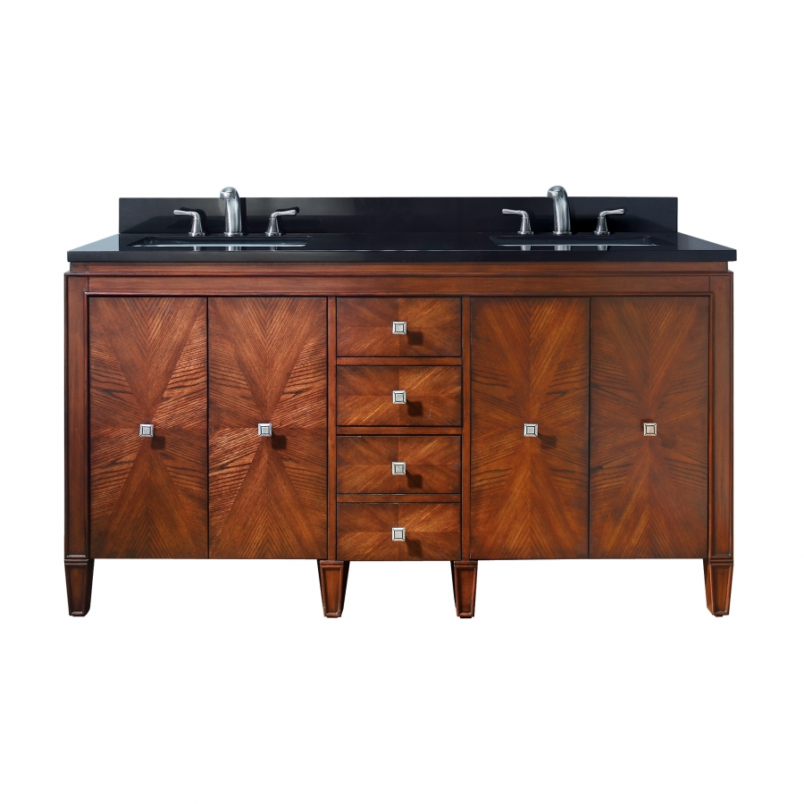 61 Inch Double Sink Bathroom Vanity With Choice Of Top
