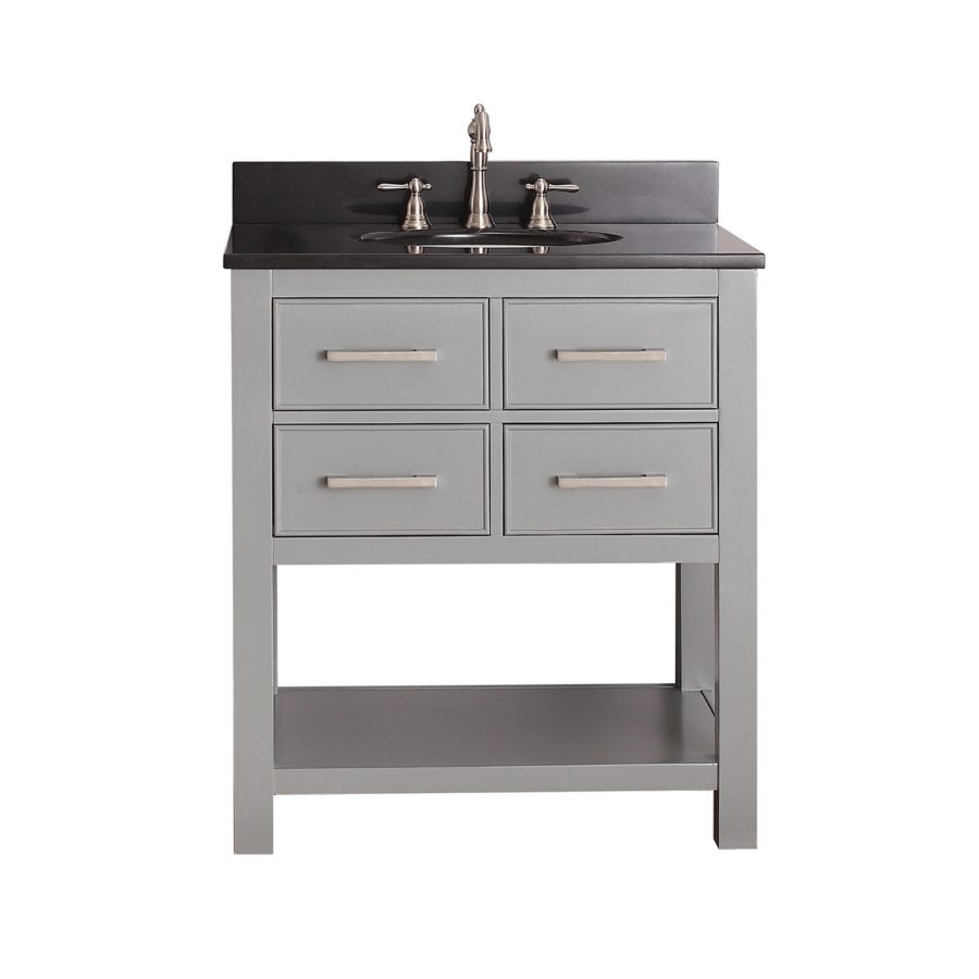30 Inch Single Sink Bathroom Vanity In Chilled Gray UVACBROOKSV30CG30