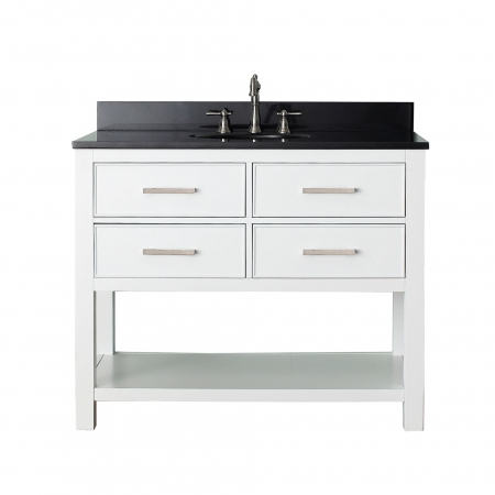 42 Inch Single Sink Bathroom Vanity with Choice of Top