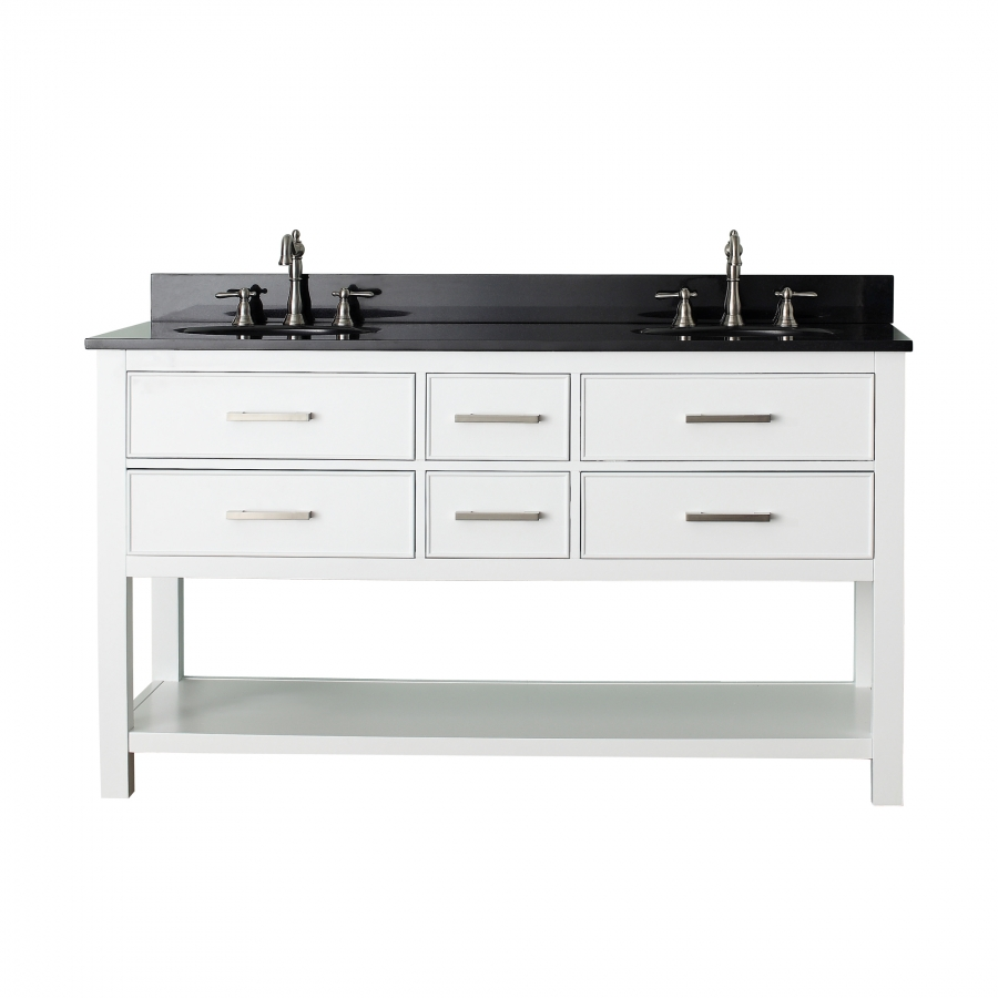 60 inch double sink bathroom vanity with soft close for Bathroom 60 inch double vanities