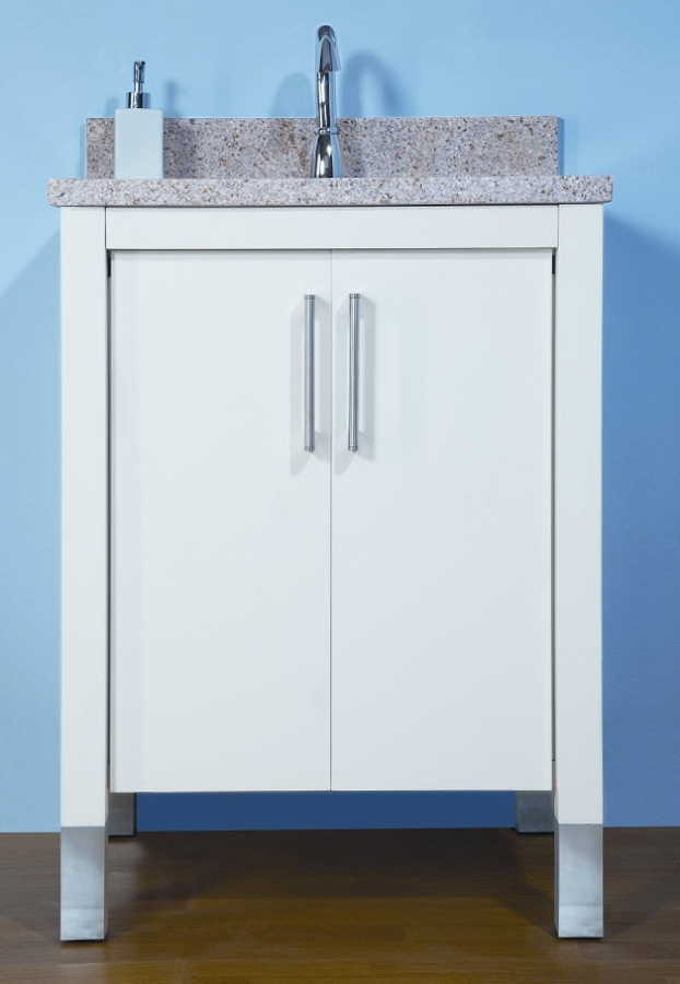 24 inch single sink modern bathroom vanity with choice of finish and