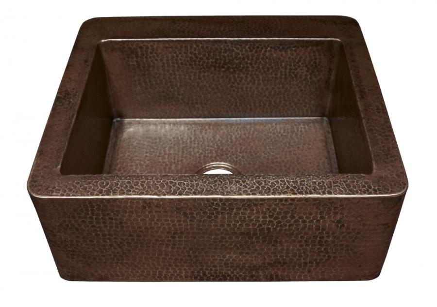 Antique Copper Apron Front Kitchen Sink UVNTCPS270
