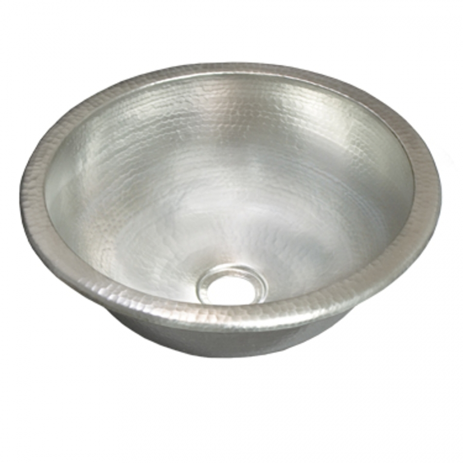 Brushed Nickel Copper Universal Mount Bathroom Sink UVNTCPS559