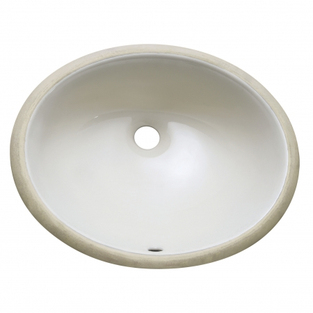18 Inch Under Mount Linen Oval Vitreous China Sink Uvaccum18ln