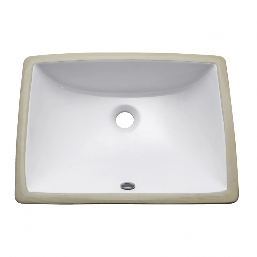 20 inch rectangular under mount white vitreous china sink - 20 inch bathroom vanity and sink ...