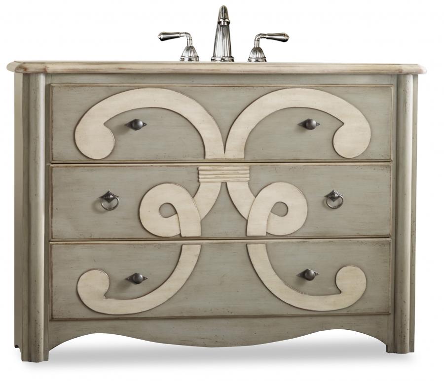 48 Farmhouse Sink : 48 Inch Single Sink Bathroom Vanity in Sage UVCAC11222755483748